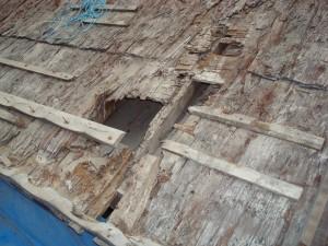朝光寺の屋根修復2