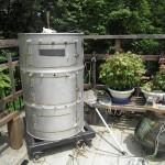 ドラム缶燻製器